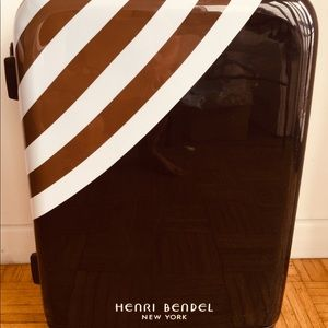 Henri Bendel suit case wheelie. Luggage.